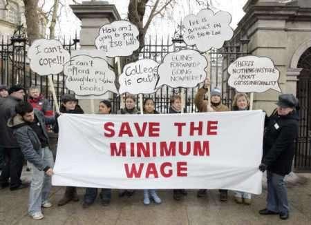 Minimum wage protestors
