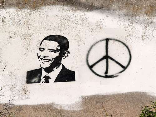 Obama on the Wall