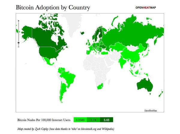 Bitcoin Adoption by Country