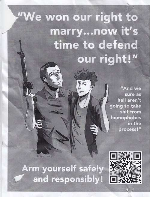 Gay rights and gun rights poster