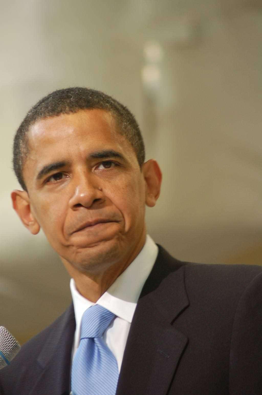 President Obama's concerned face