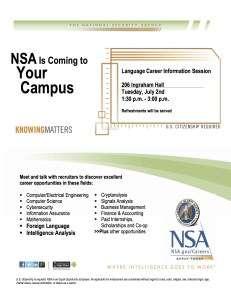 NSA recruitment flyer