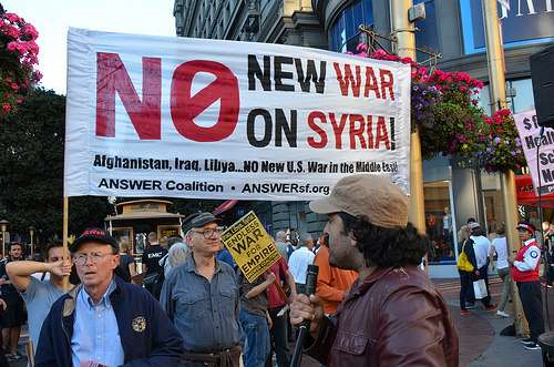Hey, there are anti-war protesters after all. Should have remembered to check San Francisco.