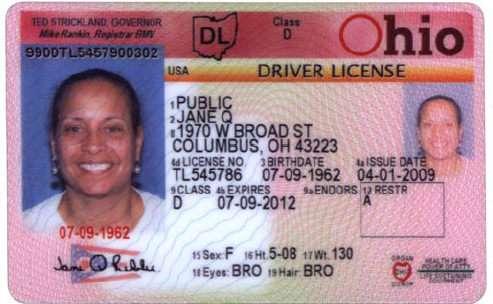 Ohio driver's license