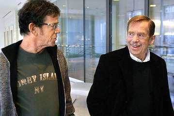 Lou Reed and Vaclav Havel. |||