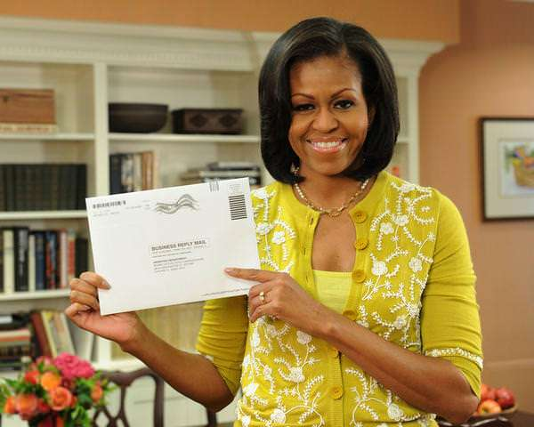 Michelle Obama forgot how to tweet because of the shutdown. Luckily, the Post Office is unaffected, so she'll be sending her latest updates in the mail.
