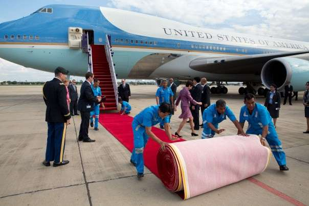 They had to roll the red carpet backwards and EVERYTHING. ||| whitehouse.gov