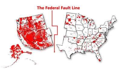 Federal land fault line