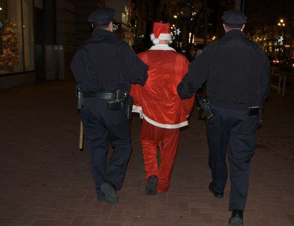 Santa in chains