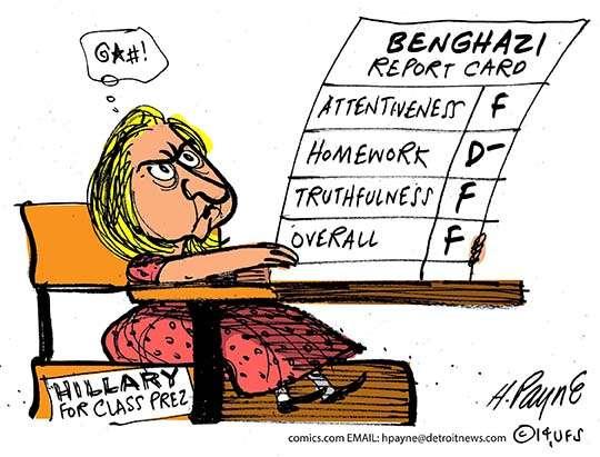 Hillary's failing grade on Benghazi