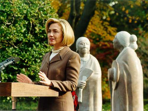 Hillary Clinton in 1997 ||| White House/Wikimedia Commons