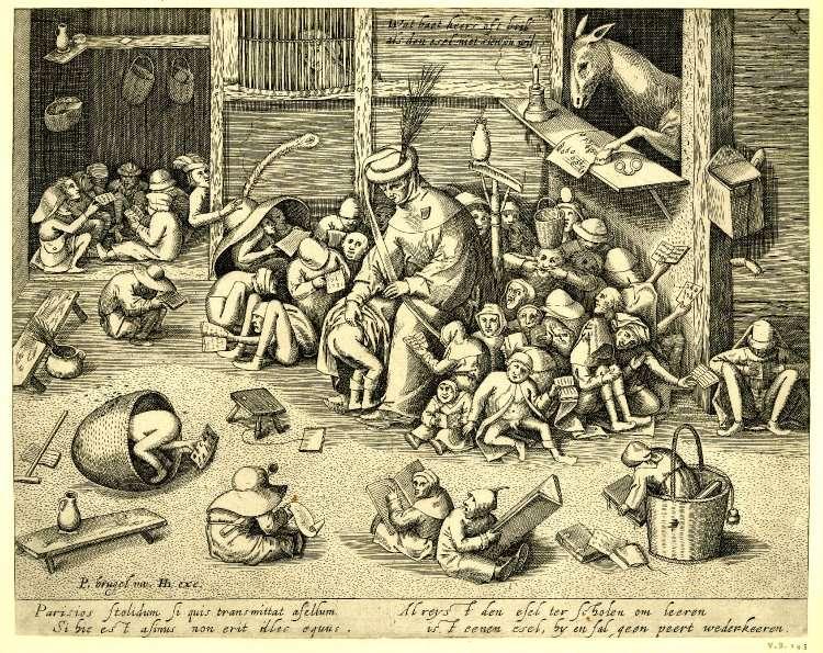 """""""The Ass at School,"""" Pieter Bruegel c. 1570"""