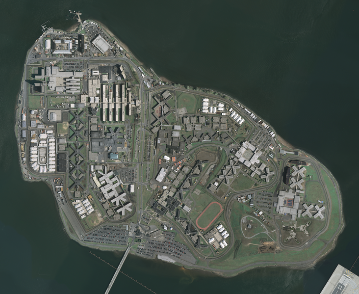 Even from a distance, Rikers Island looks rather unpleasant