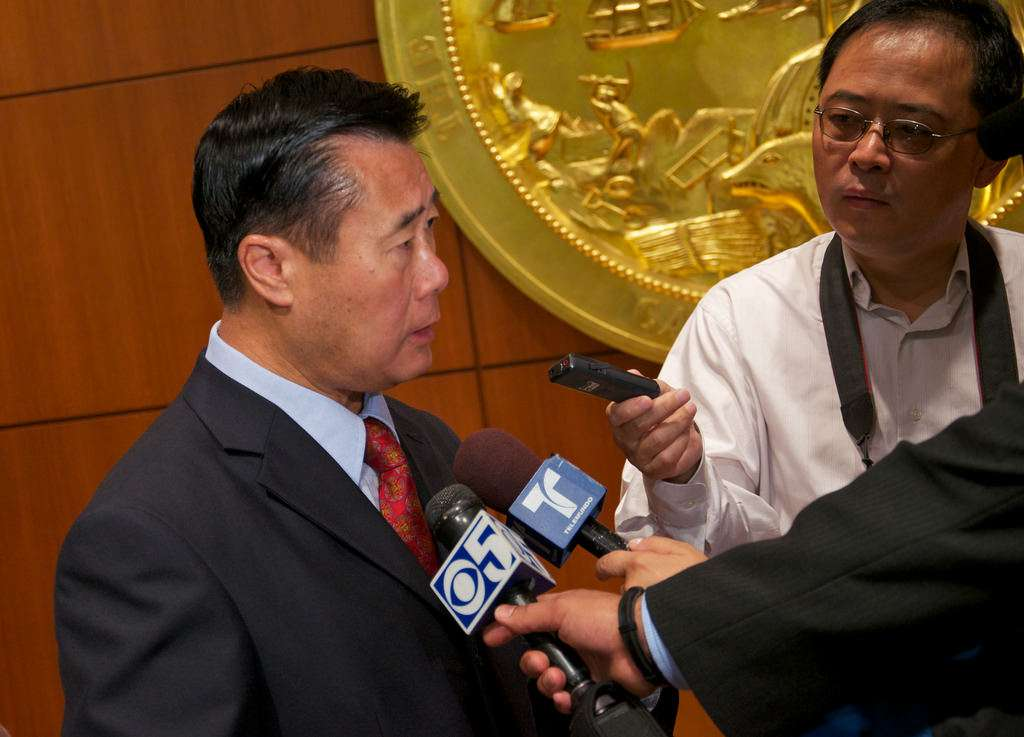 Calif. State Sen. Leland Yee, complaining about pretend guns in video games back in the day.
