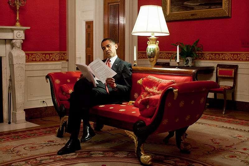 Obama! Reading!