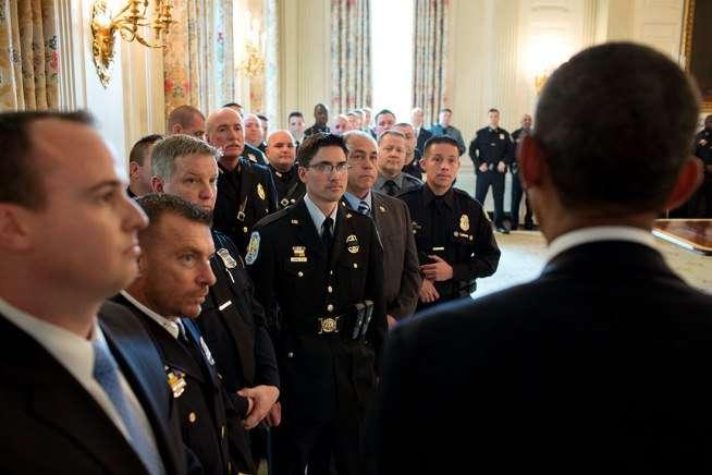President Obama and police