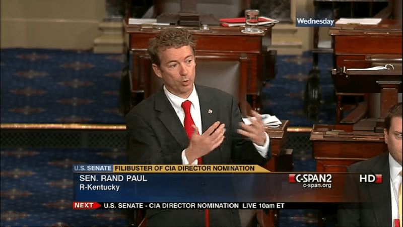 Sen. Rand Paul, in more filibustery days.