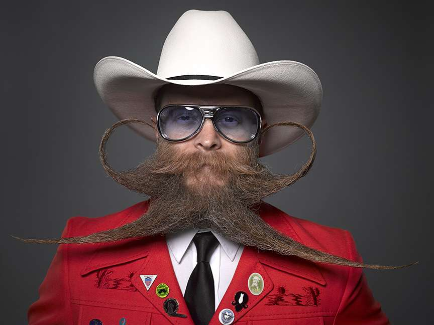 a man with a crazy beard