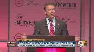 Rand Paul at the Urban League. |||