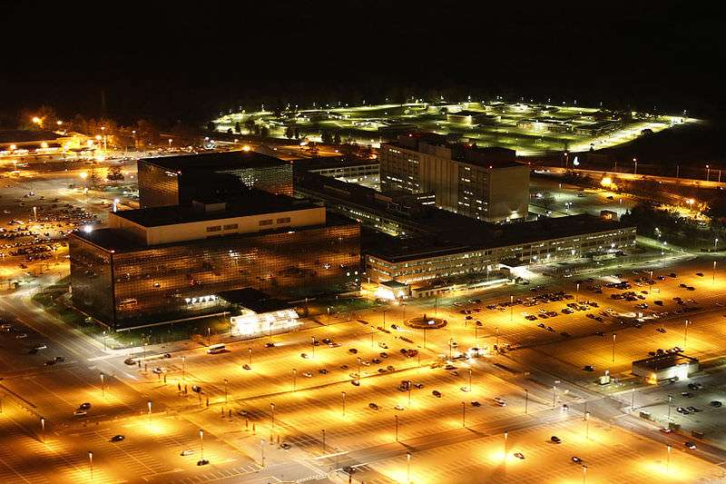 For the sake of variety, here's a nighttime shot of NSA headquarters.