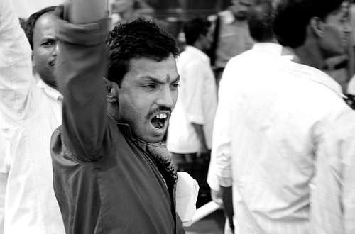 Hindu protestor