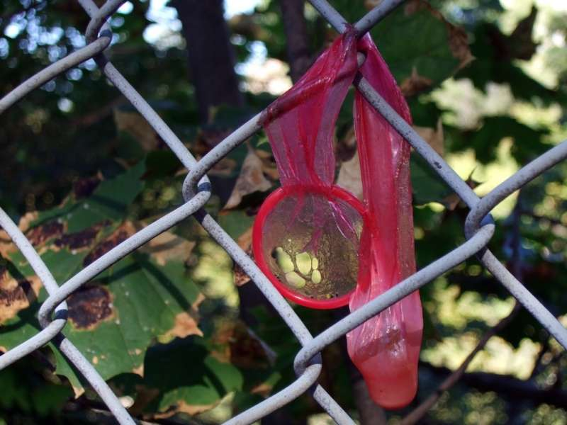 Be sure to wear a condom when you're sodomizing a chain-link fence.