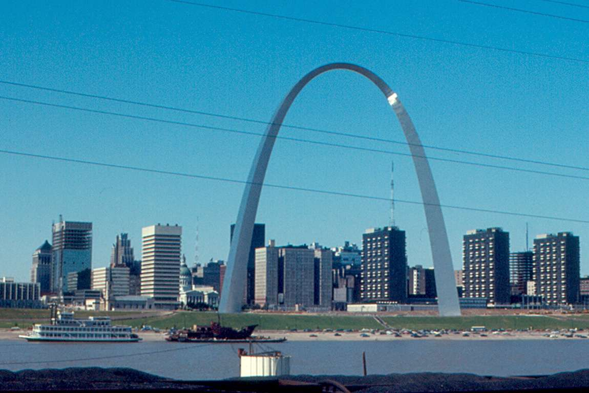 Technically Cool Valley is nowhere near downtown St. Louis, but, you know, arch picture.