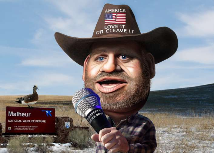 My one piece of advice to Ammon Bundy is to keep the beard. He totally makes it work.