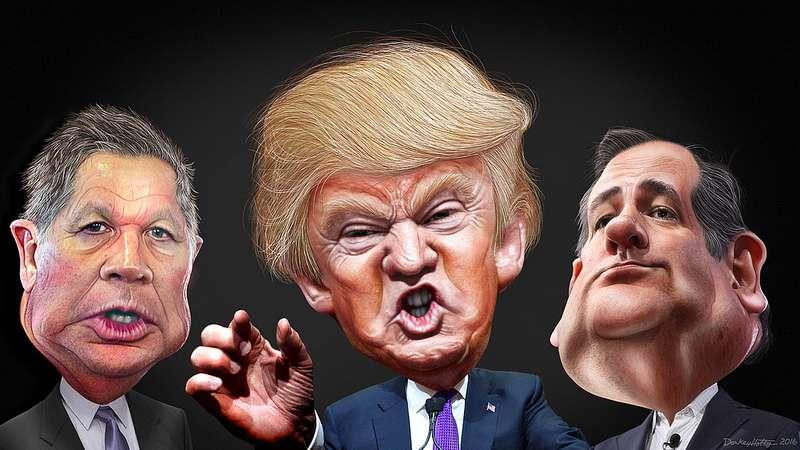 Trump, Cruz, Kasich