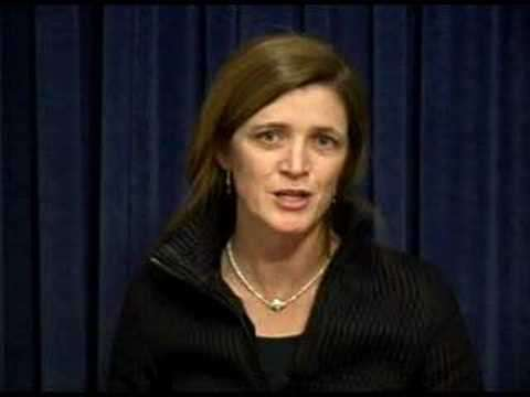 Video of Samantha Power promising the Armenian-American community in 2008 that THIS candidate, dammit, will keep his promise. ||| YouTube