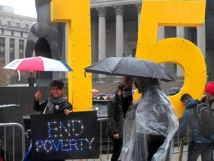 Fight for $15 minimum wage.