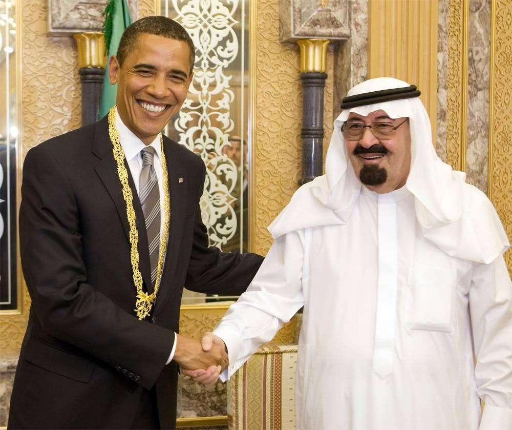Obama and Abdullah, 2014
