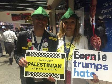 Sanders supporters for Palestine