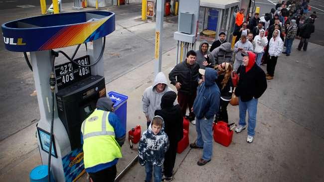 Gas line shortage
