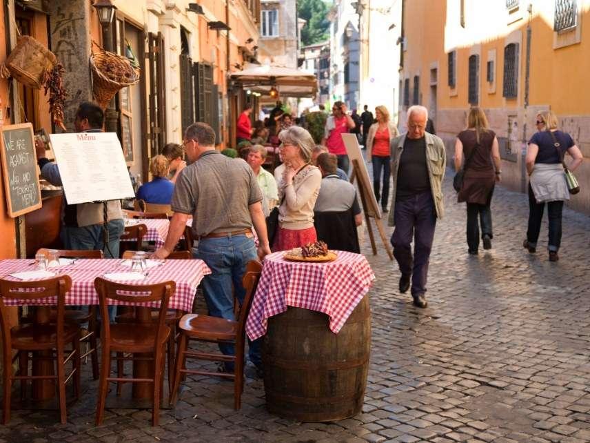 Italian street cafe