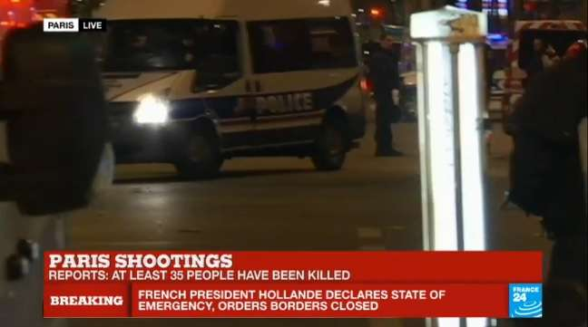Paris Hit With Multiple Terror Attacks, Including Shootings