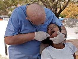 Dentist at work in Haiti