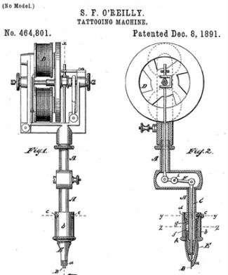 Samuel F. O'Reilly's electric tattoo machine.