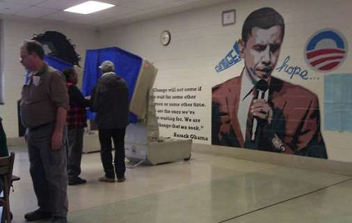 electioneering at the polling place is frowned down upon