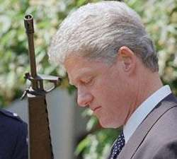 not his gun