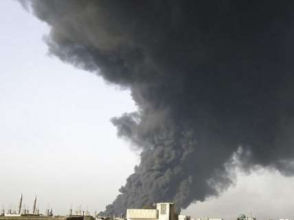 burning oil field, middle eastern staple of conflict