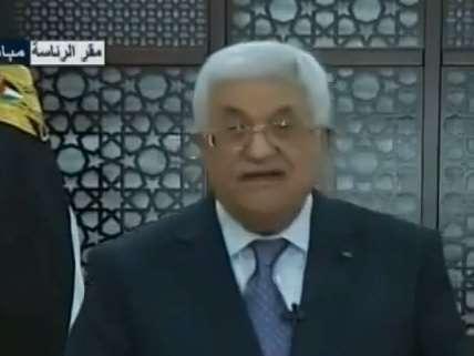 Palestinian President Mahmoud Abbas announces ceasefire