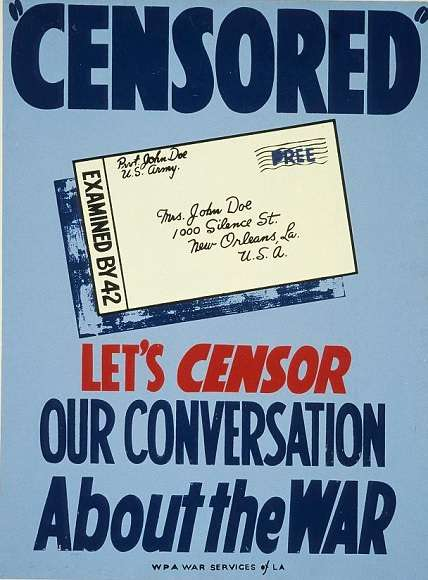 World War I Pro-Censorship Poster