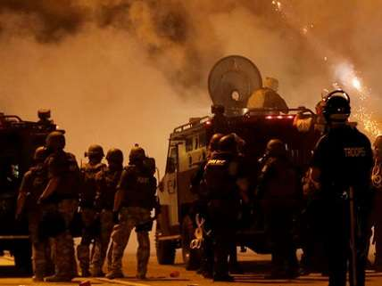 National Guard in Ferguson, Sunday night