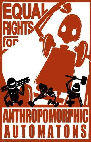 Robot Equal Rights Poster