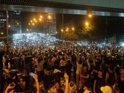 Cellphone protests in Hong Kong