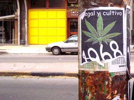 Weed sign in Uruguay