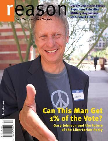 Gary Johnson on Reason cover