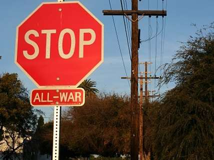 Stop sign with all-war below