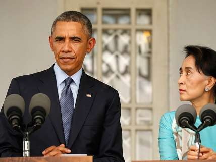 Obama at Myanmar press conference